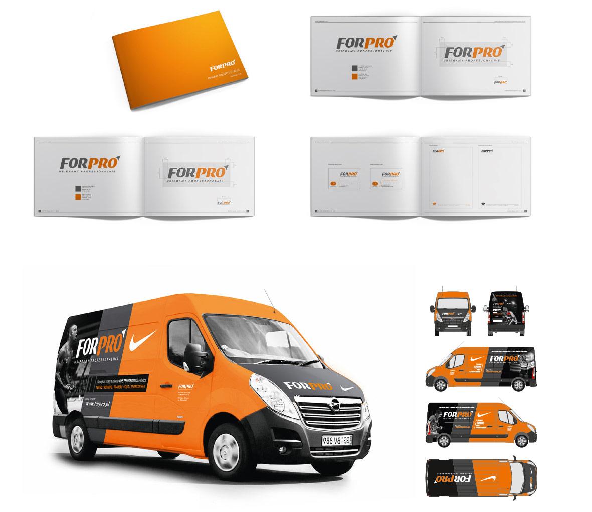 ForPro, Identyfikacja wizualna, corporate identity, Brand Design Studio, księga znaku, kreacja, produkcja