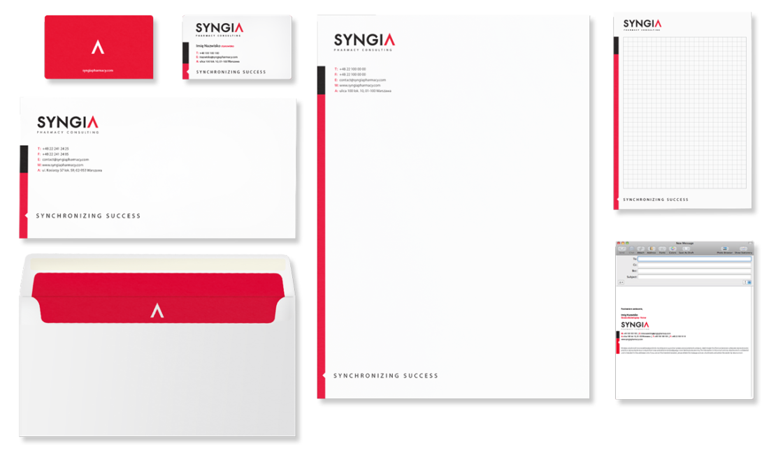 Syngia - Brand Design Studio, Corporate identity, księga znaku, kreacja