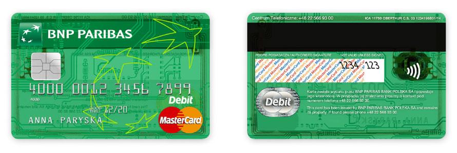 BNP Paribas Bank Krta debetowa MasterCard, Projekt karty płatniczych, Brand Design Studio, Brand , kreacja