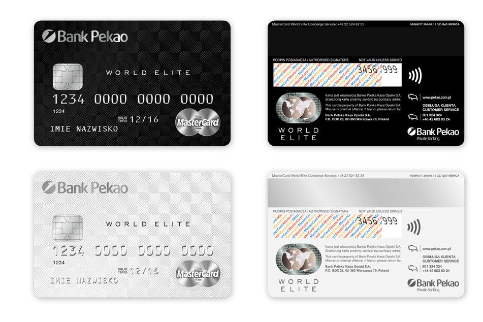 Projekty kart płatniczych Pekao MasterCard, projekt karty płatniczych, Brand Design Studio, kreacja