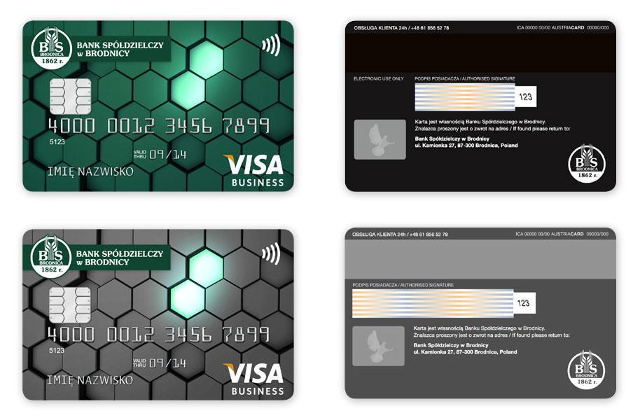 Karty płatnicze dla Bank Spółdzielczy w Brodnicy, Projekt karty płatniczych, Brand Design Studio, Brand , kreacja