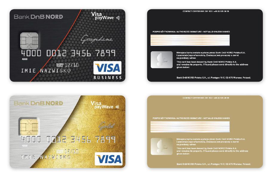 Karty płatnicze Visa Business dla DnB NORD, Projekt karty płatniczych, Brand Design Studio, Brand , kreacja