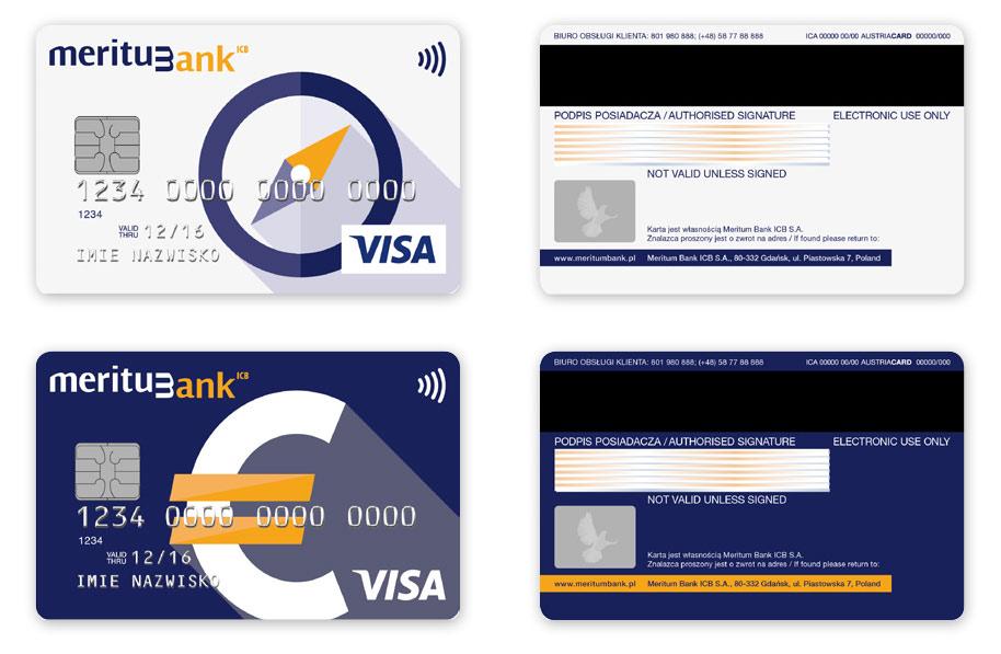 Karty płatnicze Meritum Bank, Projekt karty płatniczych, Brand Design Studio, Brand , kreacja