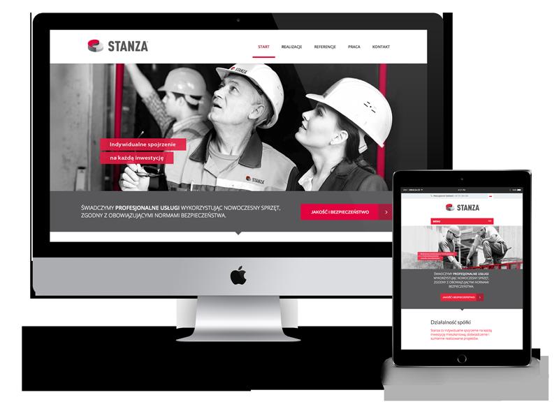Stanza, Projekt strony internetowej, kreacja, Brand Design Studio, responsywna
