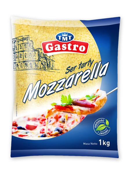 Ser mozzarella, TMT Gastro, projekt etykiety, rebranding marki spożywczej, kreacja, Brand Design Studio