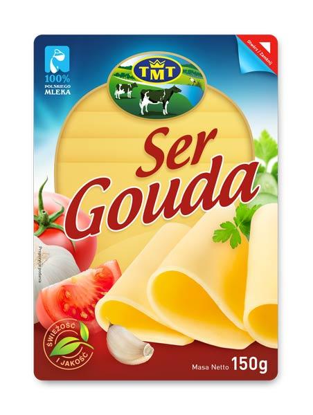 Ser gouda, projekt etykiety, rebranding marki spożywczej, kreacja, Brand Design Studio