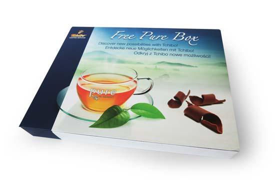 Projekt, produkcja opakowań, kreacja, Brand Design Studio, druk, Tchibo Coffee Service